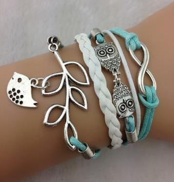 Owl Branch Bracelet Set
