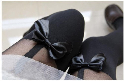 Sassy Bow Stockings