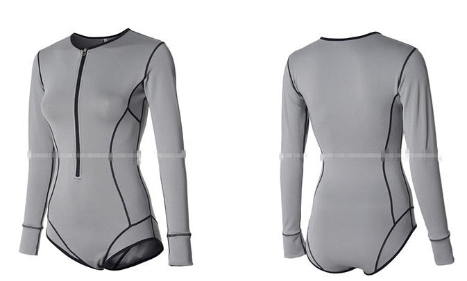 GREY RASH GUARD