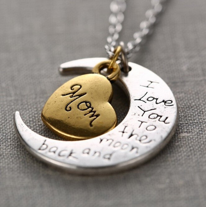 Love you to the Moon and Back Necklace