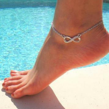 Crystal Infinity Anklet