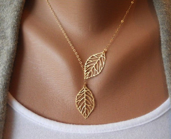Two Feather Necklace