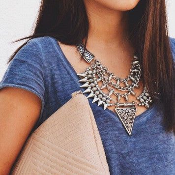 Tribal Stud Necklace