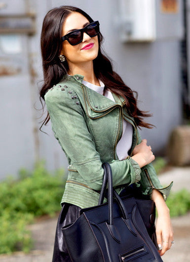 Julia Jeans Jacket Green