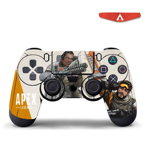 Apex Legends Controller Skin Stickers with Led Light Bar Sticker For PS4 Slim Pro Stickers