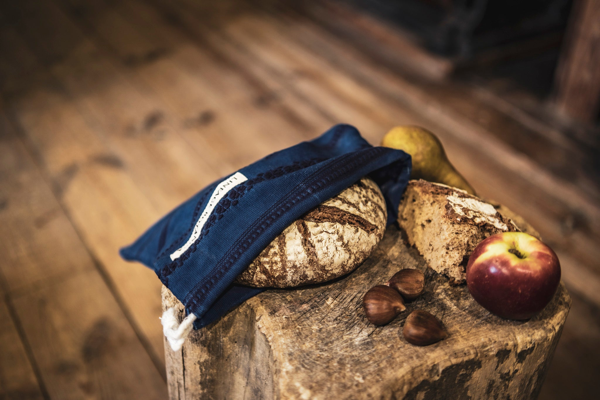 Bag: Handwoven antique and vintage hemp bread bags- BG159