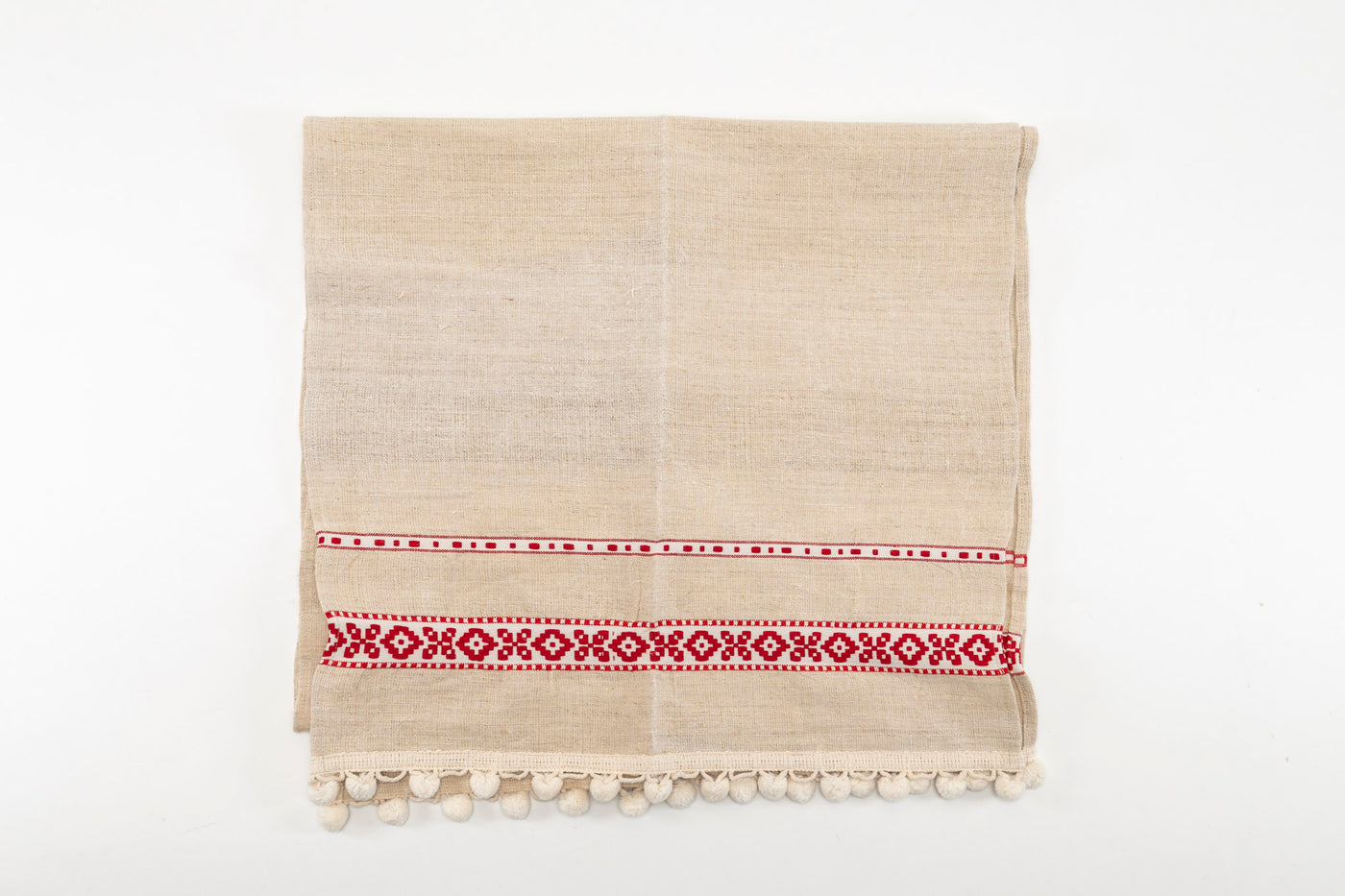 Table runner: Antique handwoven Hungarian hemp