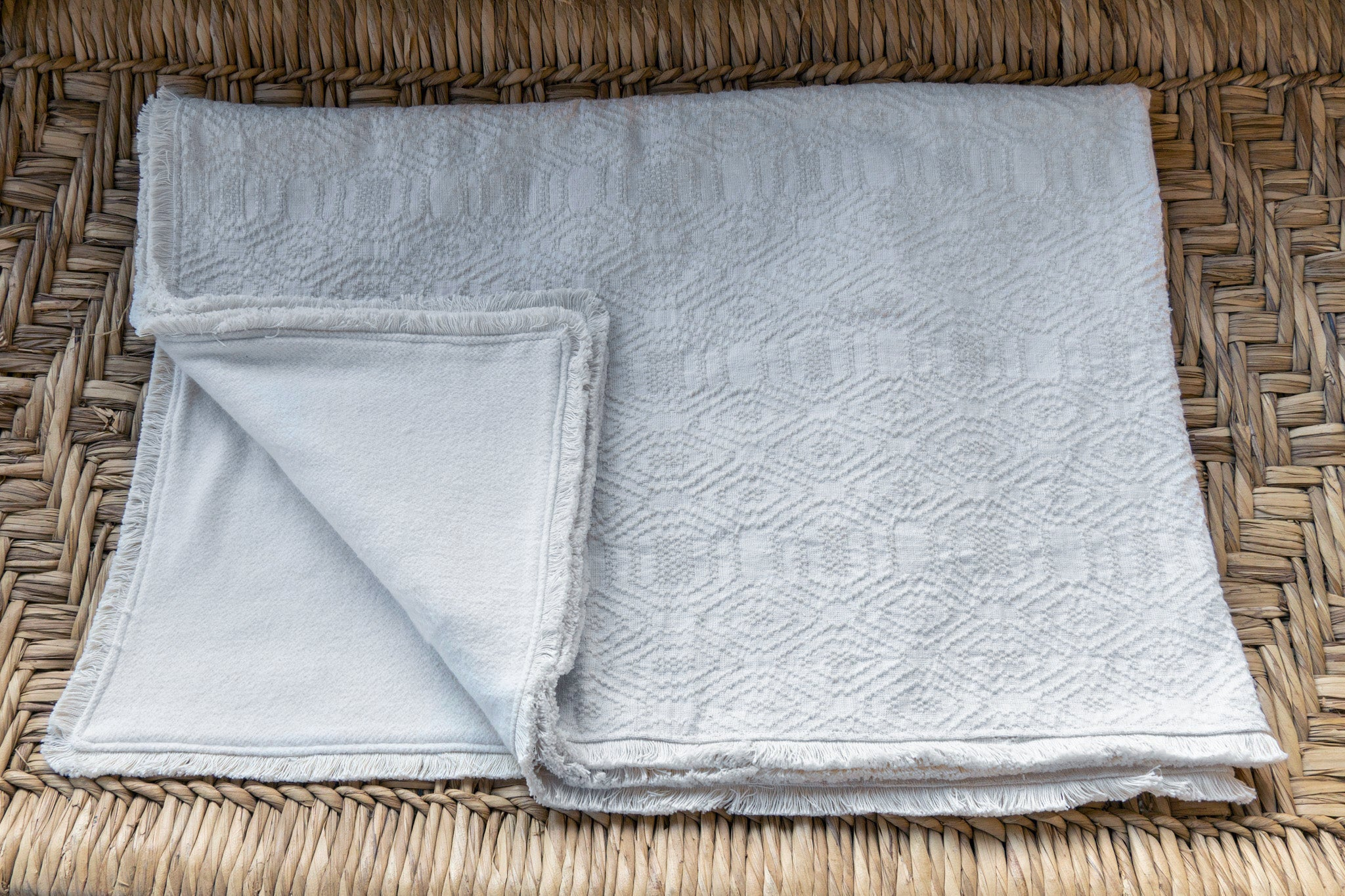 Throw: Antique Hungarian hemp with eco-cotton back - BL28