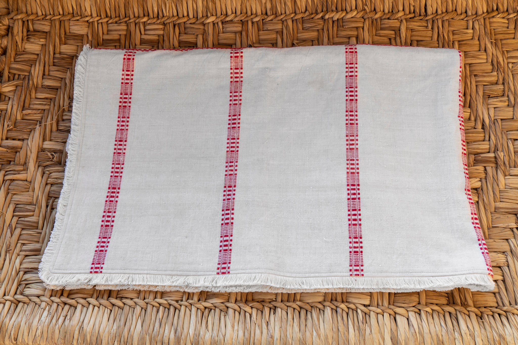 Throw: Antique Hungarian hemp with eco-cotton back