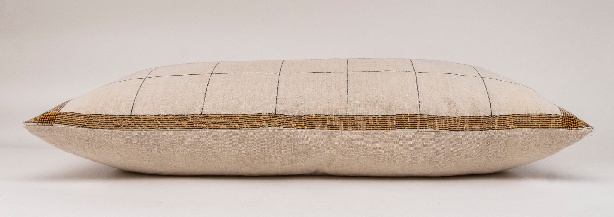 Pillow: Handwoven decorative pillow, antique Hungarian hemp - P282