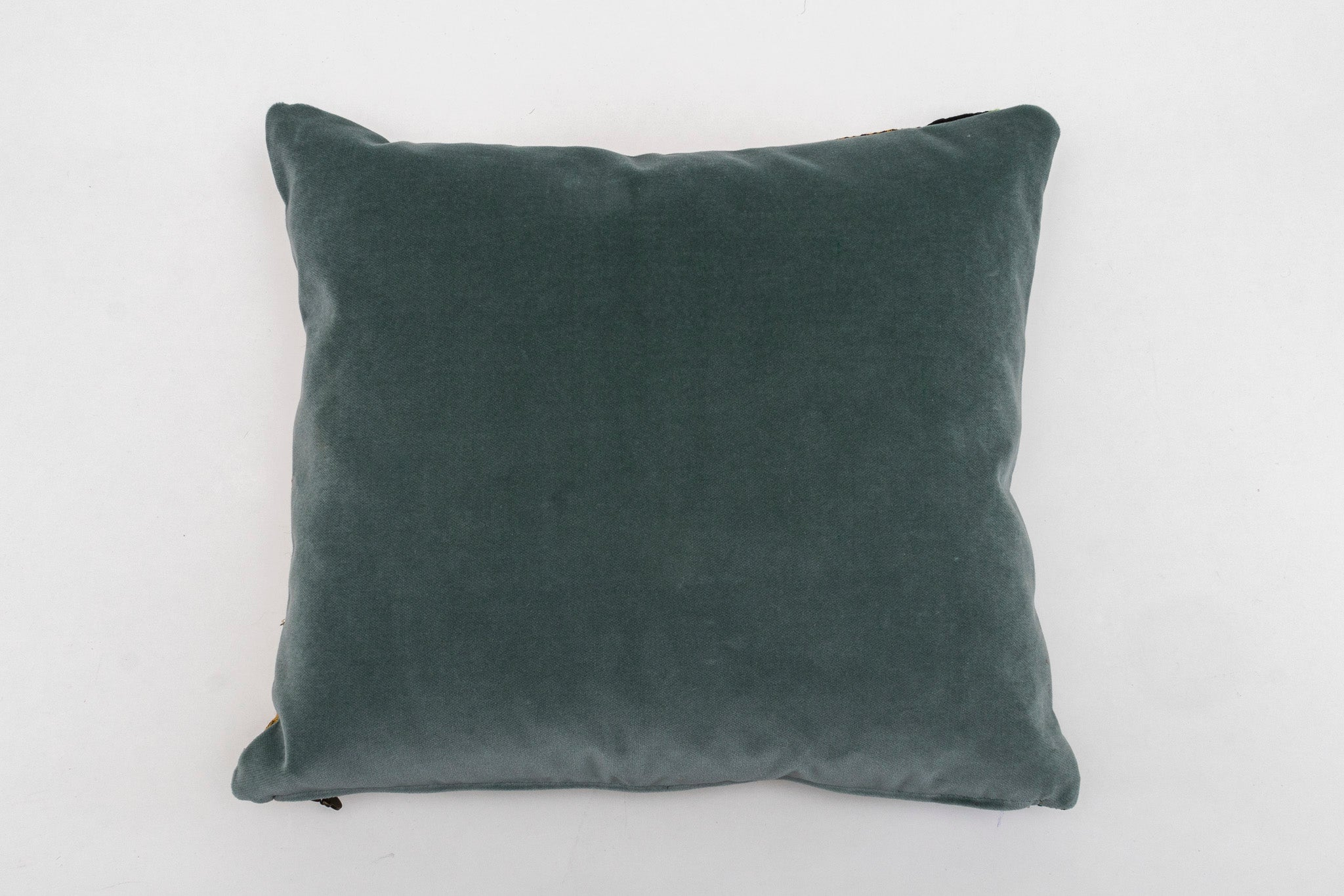 Pillow: Handwoven and adorned antique Romanian wool