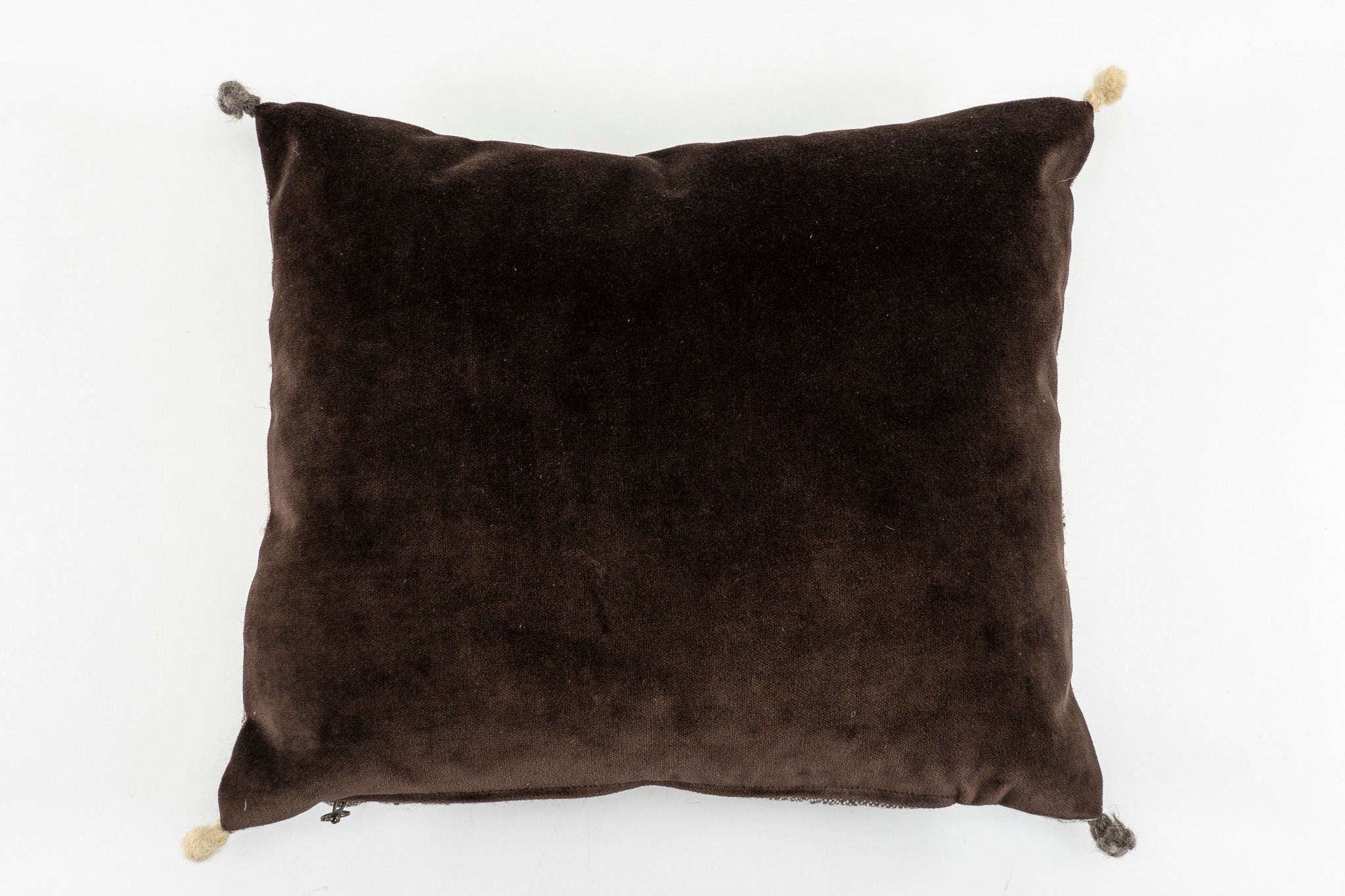 Pillow: Handwoven wool and cotton velvet - P298