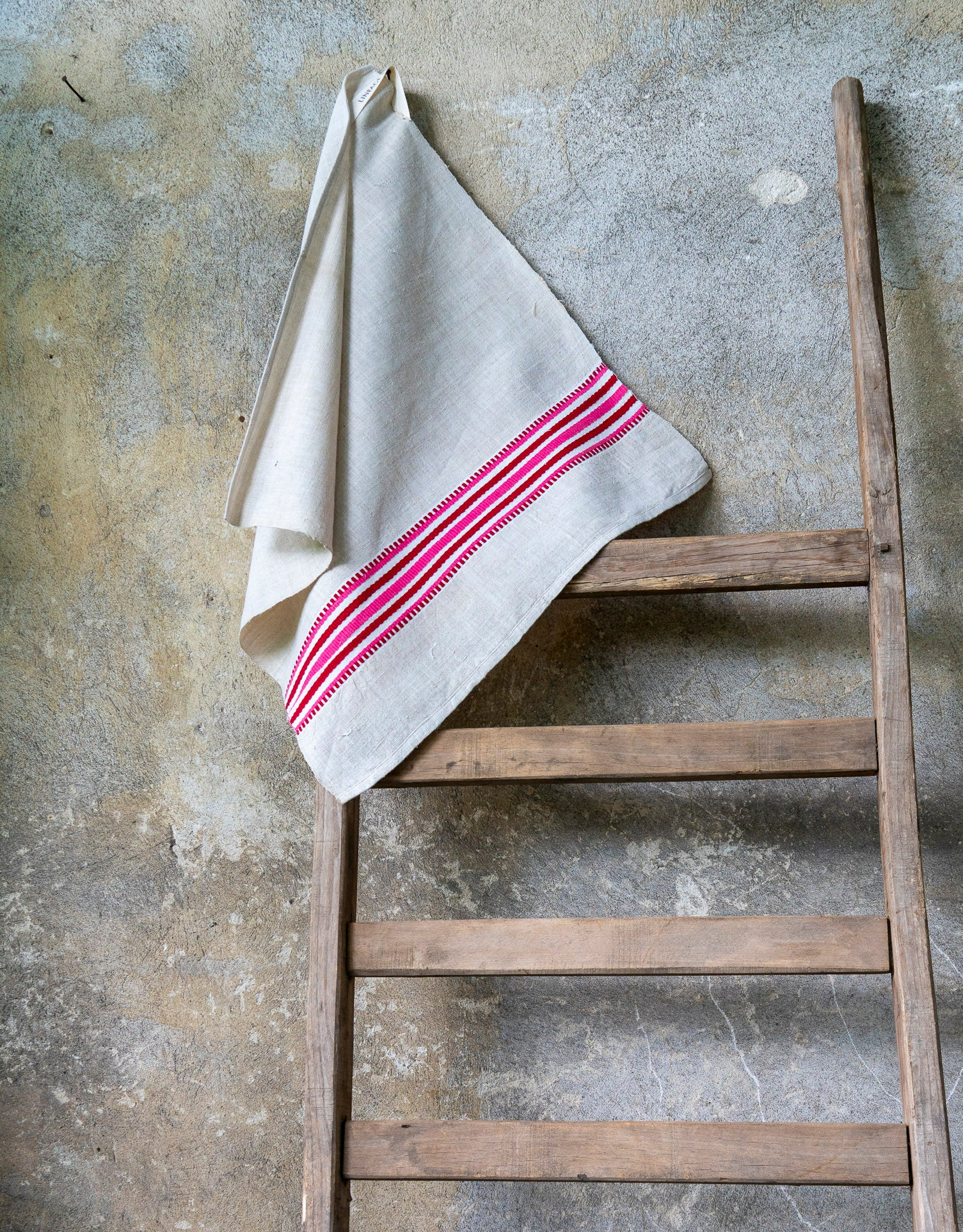 Towel: Handwoven antique Hungarian cotton and hemp - T71