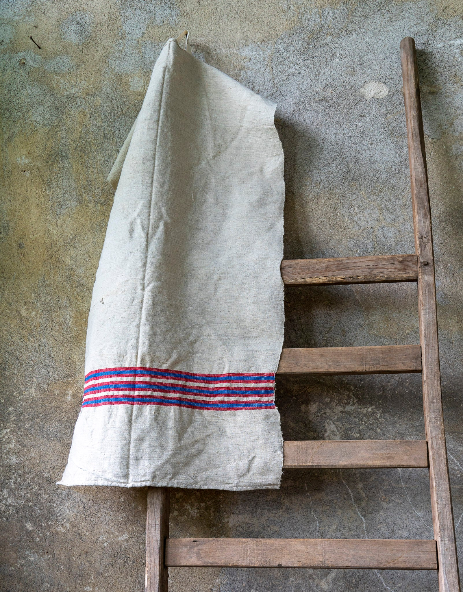 Towel: Handwoven antique Hungarian cotton and hemp