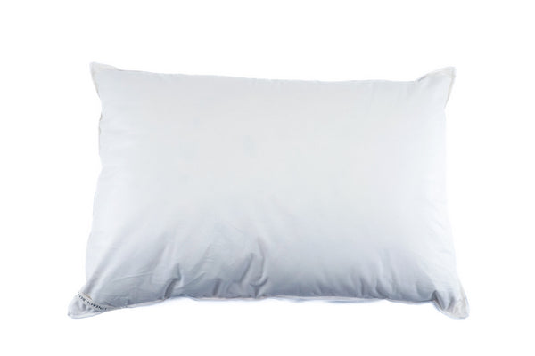 Down Pillow: Queen size, organic cotton, recycled Hungarian goose down
