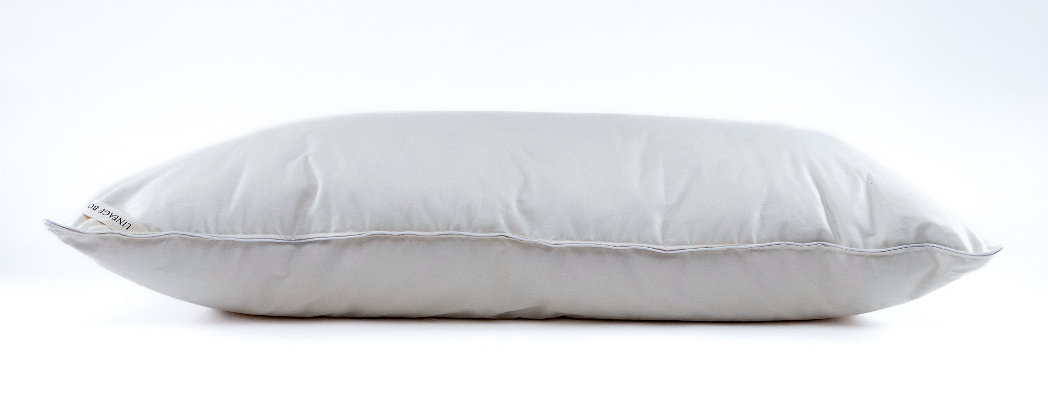 Down Bedding Pillow: King size, organic cotton, recycled 100% Hungarian goose down P-1K