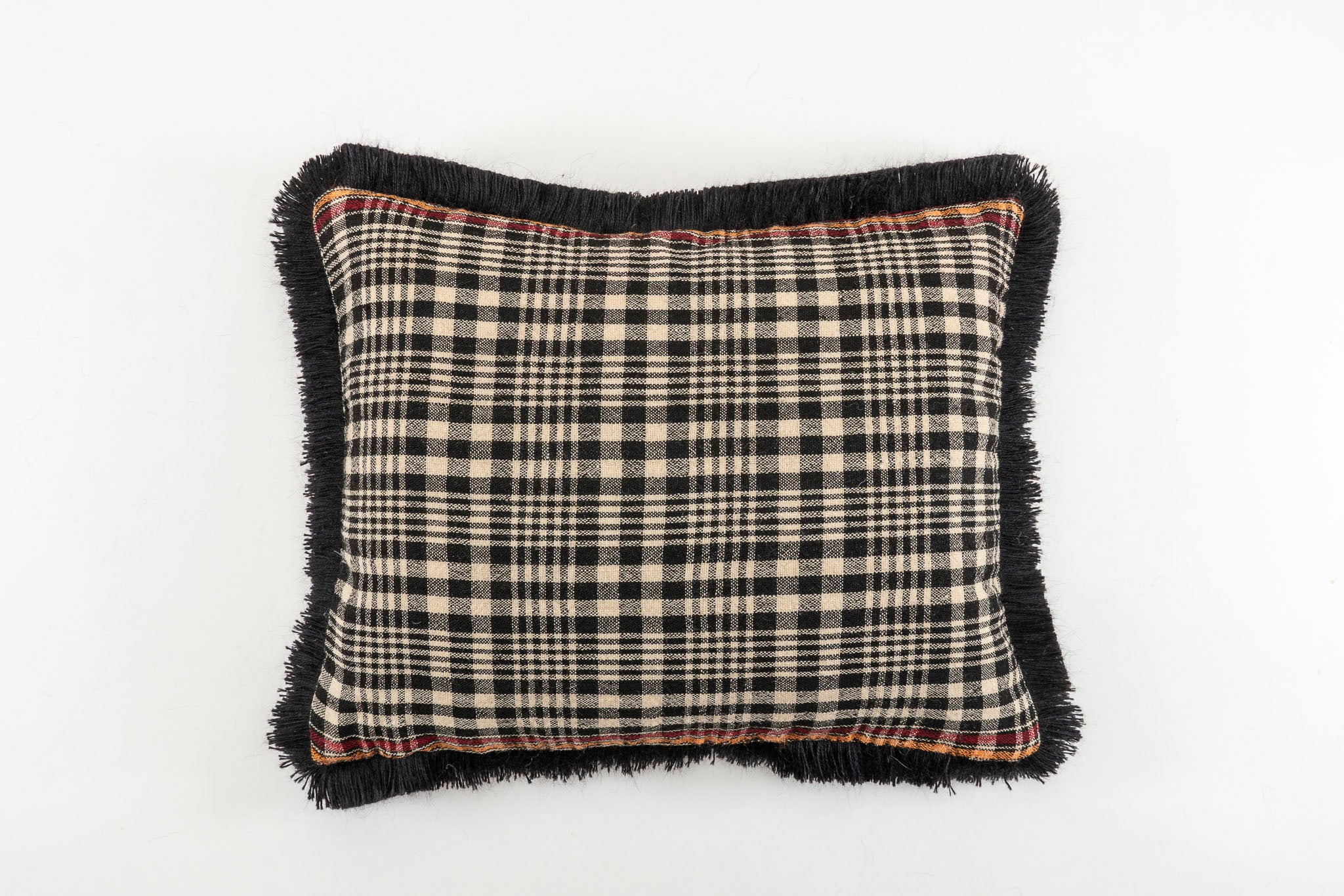 Pillow: Hand woven antique Bulgarian wool