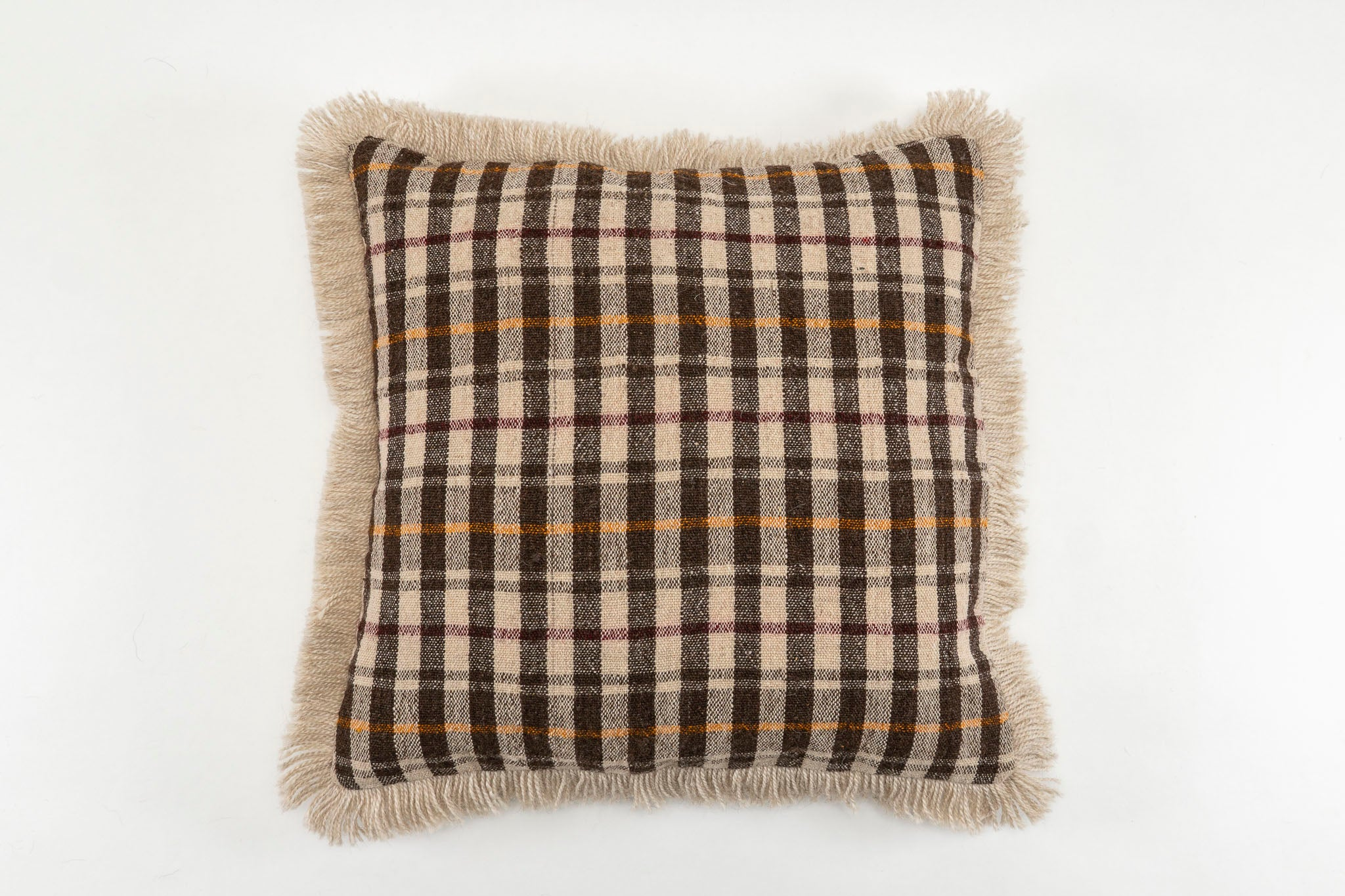 Pillow: Handwoven antique Bulgarian woolen textile