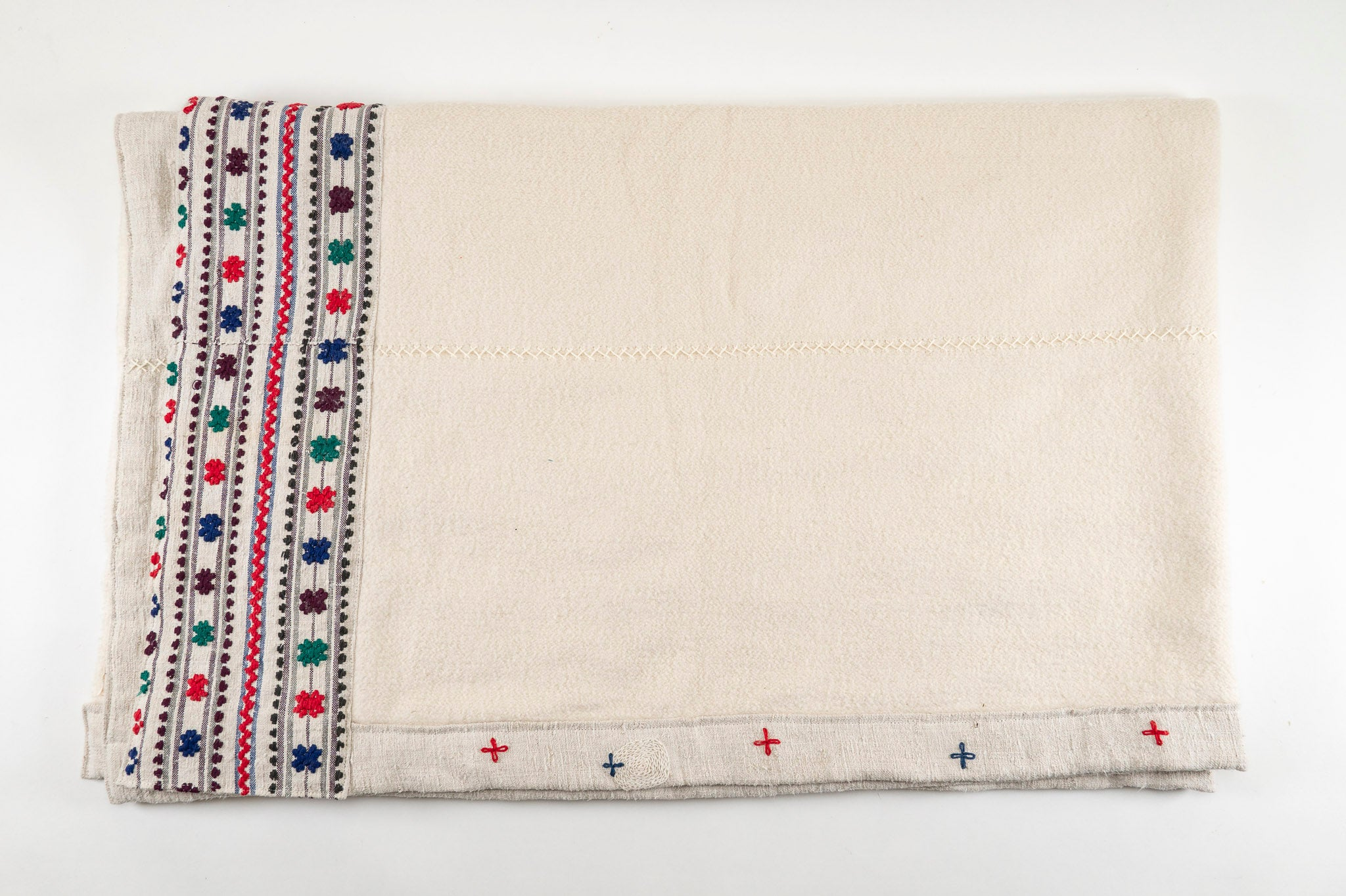 Throw: Antique Hungarian hemp with eco-cotton back - TH33