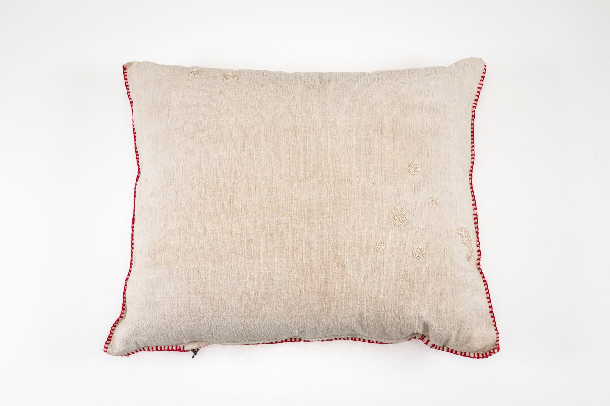Pillow: Embroidered antique handwoven Hungarian hemp - P019