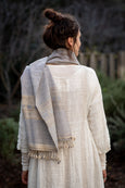 Shawl: Handwoven, hand spun organic Kala cotton and silk
