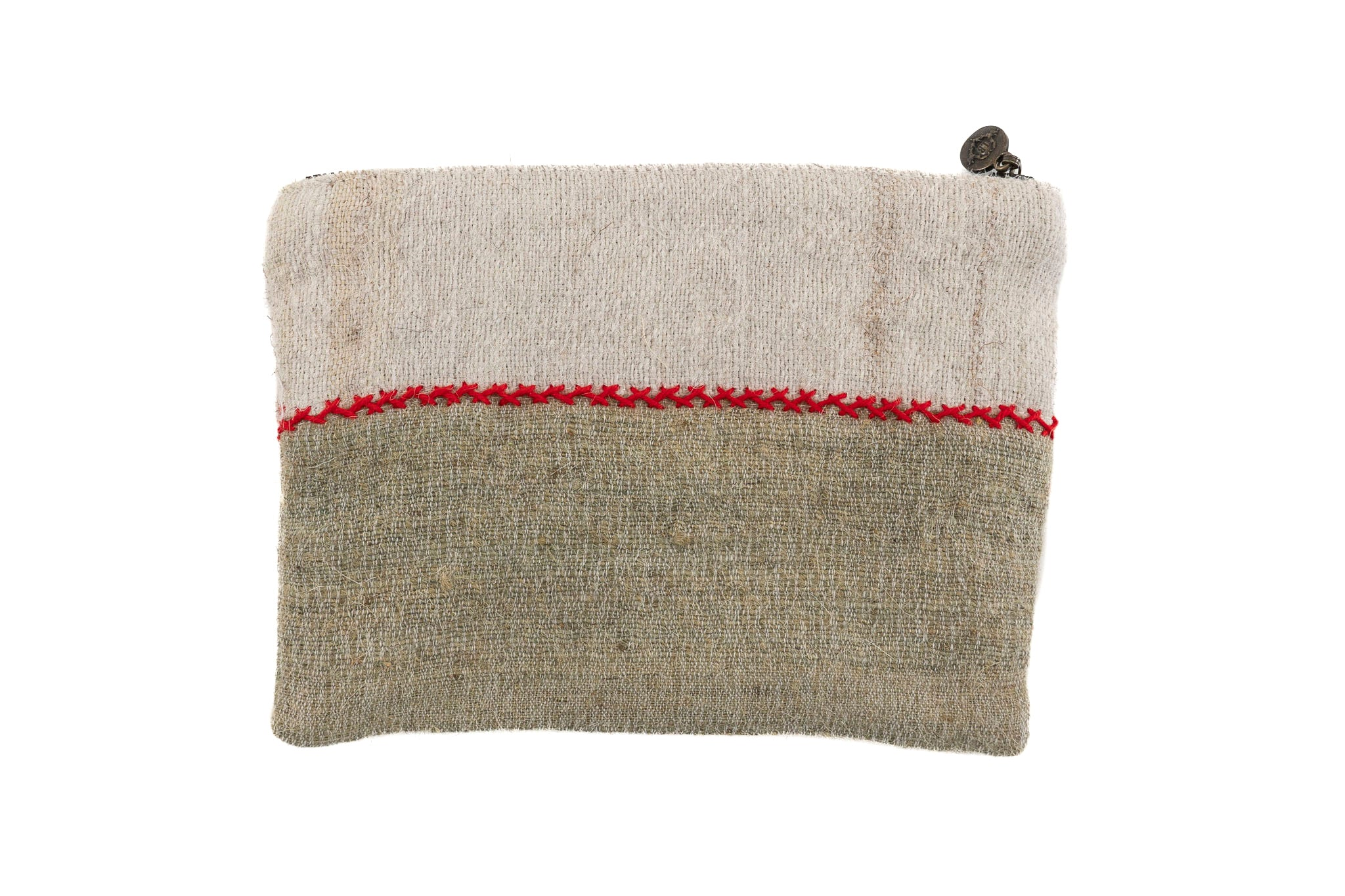 Bag: Handwoven wool, interior handwoven hemp lining - BG92