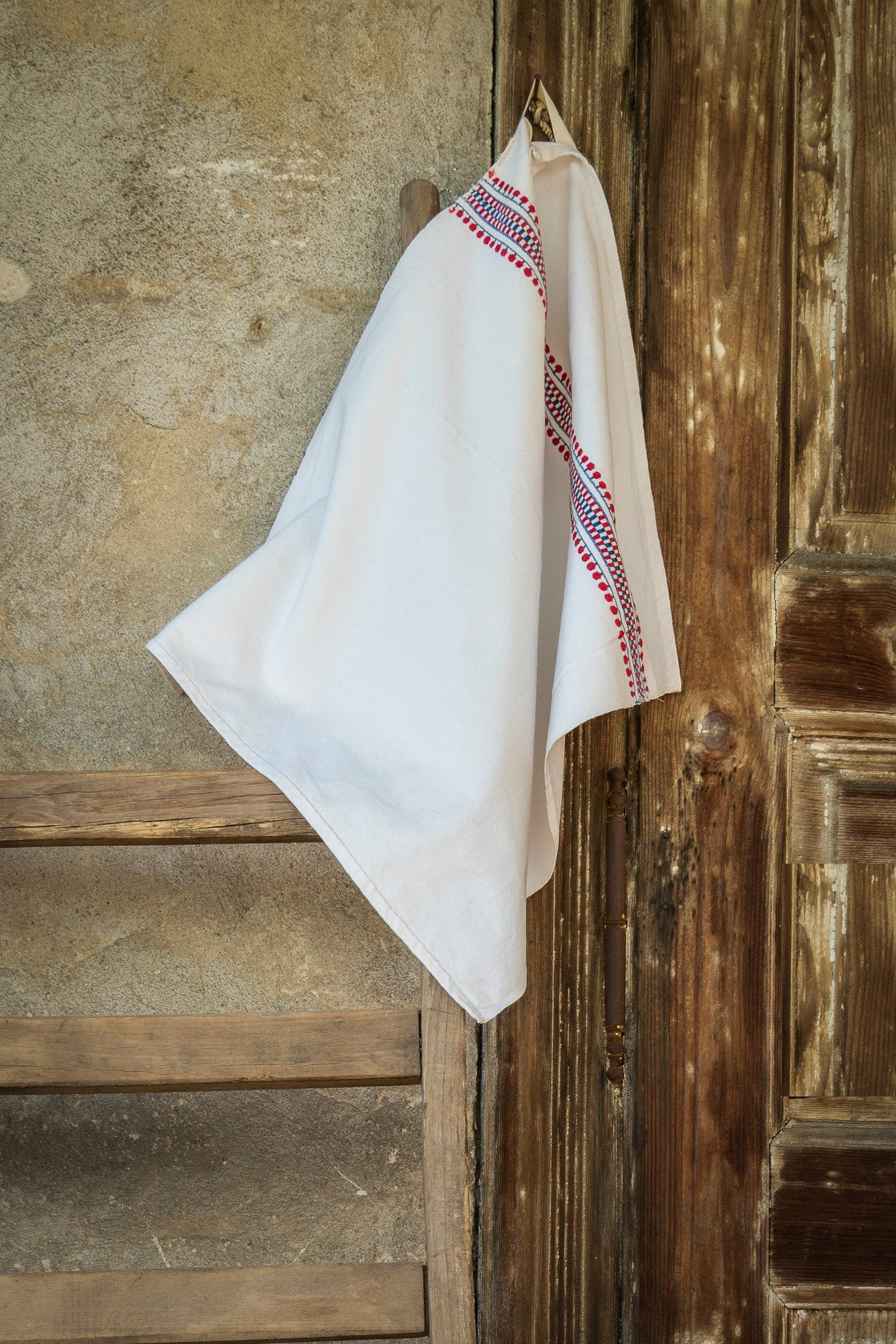 Towel: Handwoven antique Hungarian cotton