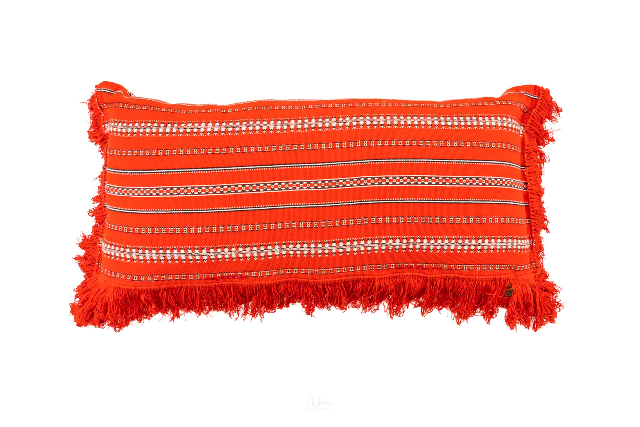 Pillow: Vintage handwoven Bulgarian cotton - P095