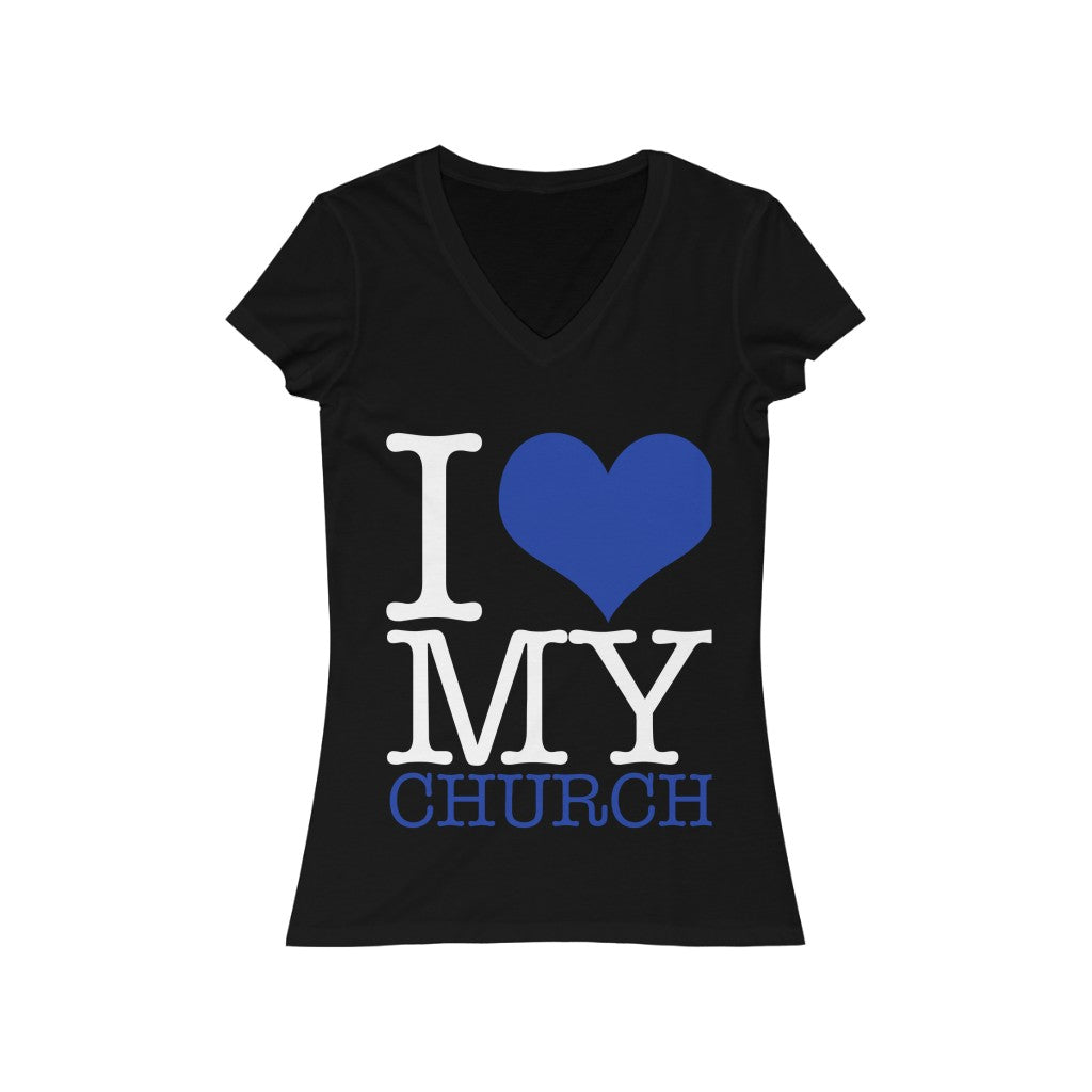 Women's I love my church V-Neck Tee