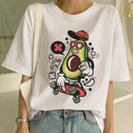 New Avocado Shirt Vegan T Shirt Women Harajuku Kawaii Short Sleeve T-shirt Vogue 90s Korean Style Tshirt Fashion Top Tees Female