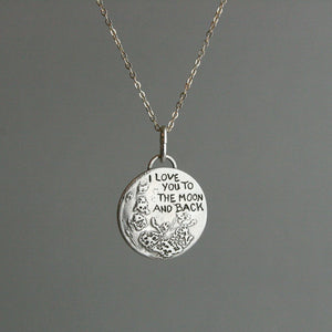 "Kette ""I love you to the moon and back""  Handgefertigt_Schmuck_handmade_animoART"