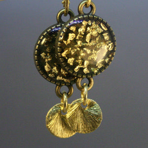 "Ohrringe ""Gold-Flocken""_Schmuck_handmade_animoART"
