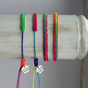 "Kinderarmband ""Neon light"" bunt_Schmuck_handmade_animoART"