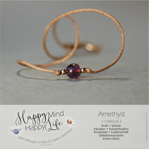 "Armband ""Amethyst"" mit Bedeutung in lila - gold"