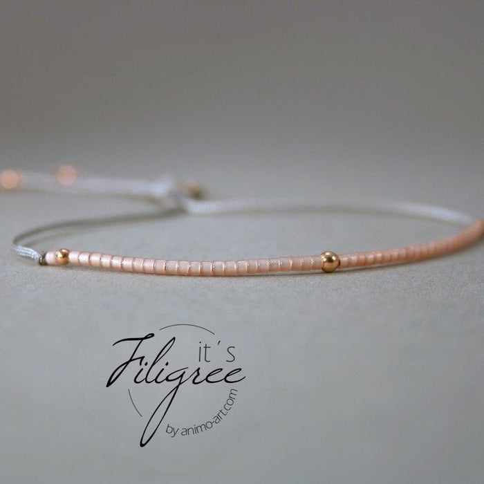 "Armband Damen  ""Filigree"" Rosegold / Rose"