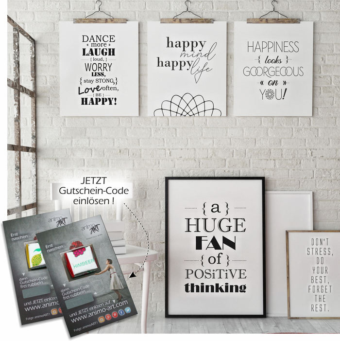 Happy Day - PRINTABLE 5er-Set - Digital Downloads