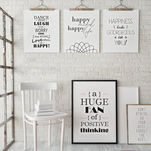 Happy Day - PRINTABLE 5er-Set - Druck-Vorlage - Digital Downloads - animoart