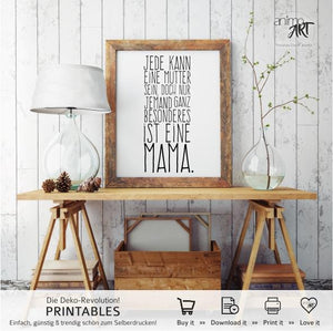 """Besondere Mama"" PRINTABLE - Digital Downloads_Printable_handmade_animoART"
