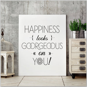 "PRINTABLE ""Happiness looks gorgeous on you"" Druckvorlage - Digital Downloads_Printable_handmade_animoART"