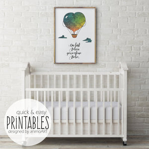 "PRINTABLE ""Balloons of love"" Digital Downloads - animoart"
