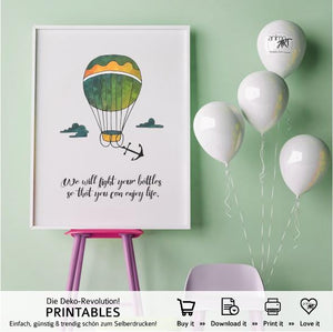 "PRINTABLE ""Balloons of love"" Digital Downloads"