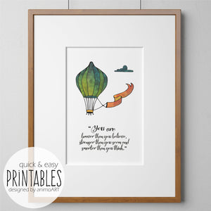 "PRINTABLE ""Balloons of love"" Digital Downloads_Printable_handmade_animoART"