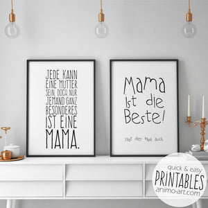 PRINTABLE - Für die allerbeste Mama... - Digital Downloads_Printable_handmade_animoART