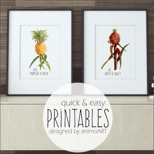 "PRINTABLE ""Vintage-Ananas"" Digital Downloads_Printable_handmade_animoART"