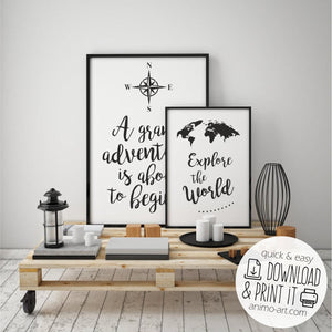 "PRINTABLE  ""Für Abenteurer""  Digital Download_Printable_handmade_animoART"