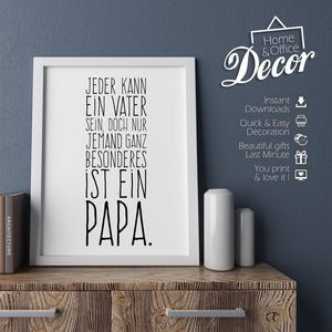 """Besonderer Papa""  PRINTABLE - Digital Downloads_Printable_handmade_animoART"