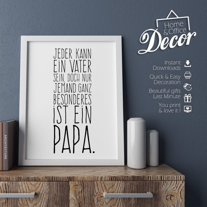 """Besonderer Papa""  PRINTABLE - Digital Downloads"