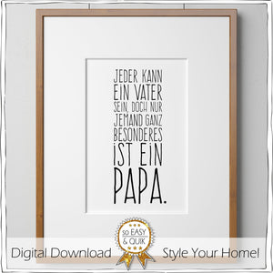 """Besonderer Papa""  PRINTABLE - Druck-Vorlagen - Digital Downloads - animoart"