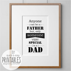 Special Dad - PRINTABLE - Digital Downloads_Printable_handmade_animoART