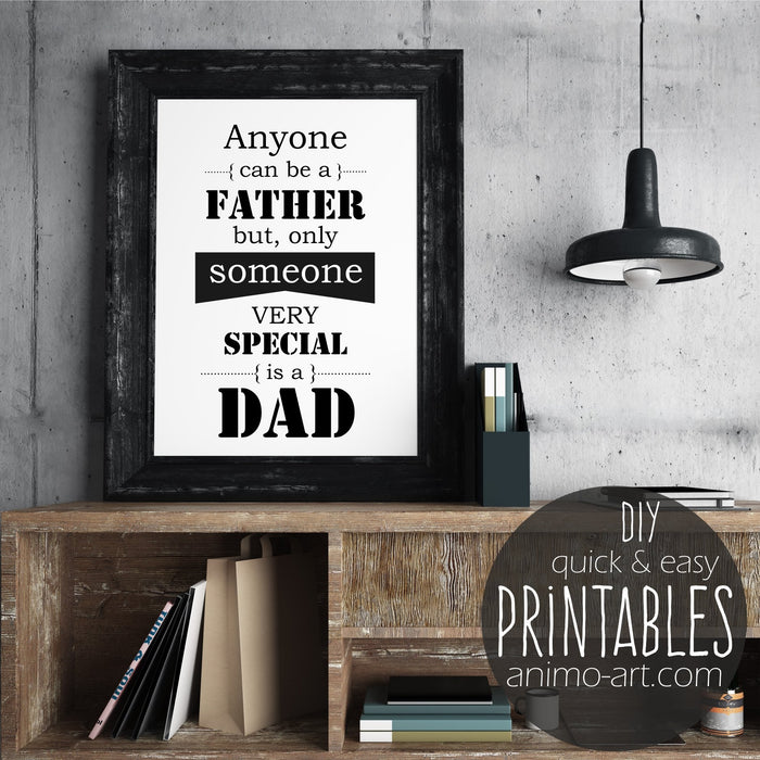 Special Dad - PRINTABLE - Digital Downloads